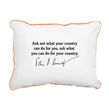 JFK Inaugural Quote Rectangular Canvas Pillow