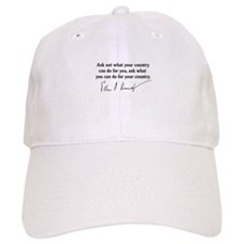 JFK Inaugural Quote Baseball Cap
