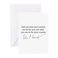 JFK Inaugural Quote Greeting Cards (Pk of 10)