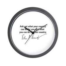 JFK Inaugural Quote Wall Clock