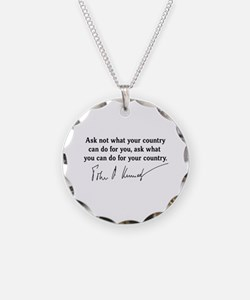JFK Inaugural Quote Necklace