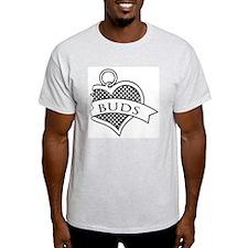 Best Buds Black (Buds) Ash Grey T-Shirt