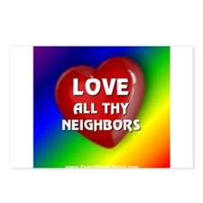 Love All Thy Neighbors Postcards (Package of 8)
