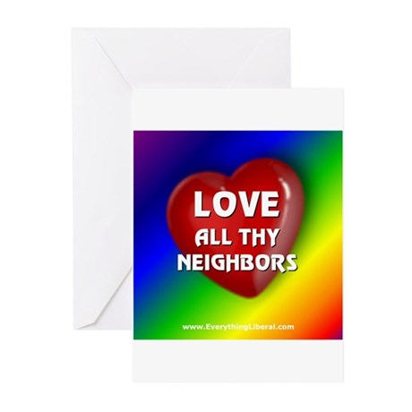 Love All Thy Neighbors Greeting Cards (Package of