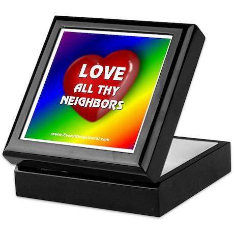 Love All Thy Neighbors Keepsake Box