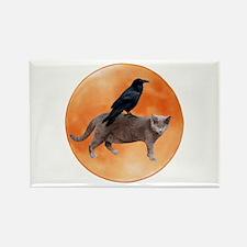 Cat Raven Moon Rectangle Magnet (10 pack)