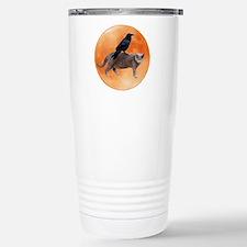 Cat Raven Moon Stainless Steel Travel Mug