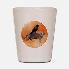 Cat Raven Moon Shot Glass
