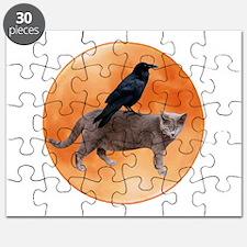 Cat Raven Moon Puzzle