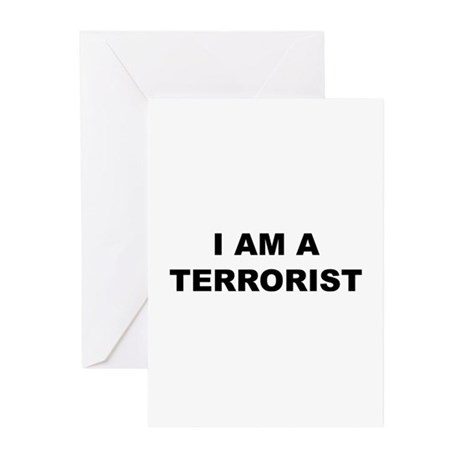 I AM A TERRORIST PACK OF 6 GREETING CARD