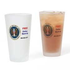 NSA Online Backup Drinking Glass