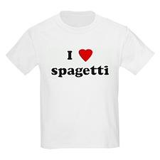 I Love spagetti Kids T-Shirt