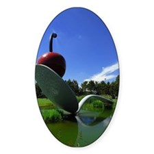 Cherry Spoon 3 Oval Decal