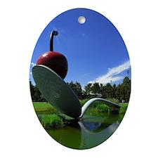 Cherry Spoon 3 Oval Ornament