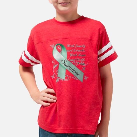 Ovarian Cancer Survivor Youth Football Shirt