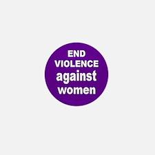 END VIOLENCE... Mini Button