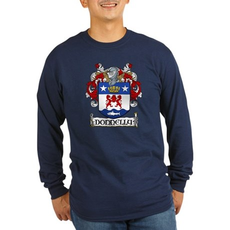 Donnelly Coat of Arms Long Sleeve Dark T-Shirt