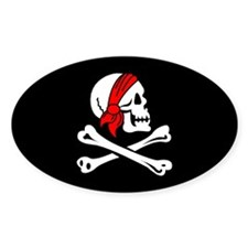 Historical Jolly Roger Pirate Oval Decal