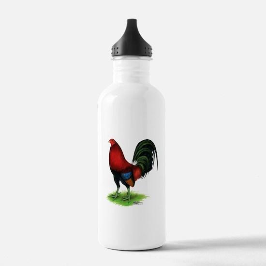 Dark Red Gamecock Water Bottle