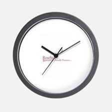 Rosebud Records Proudly Prese Wall Clock