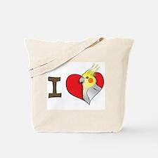 I heart cockatiels Tote Bag