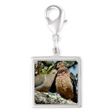 Love doves peace and joy Charms