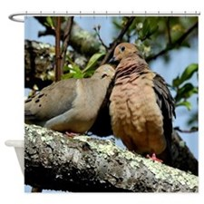 Love doves peace and joy Shower Curtain