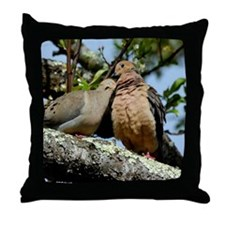 Love doves peace and joy Throw Pillow
