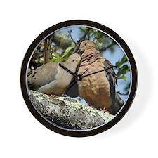 Love doves peace and joy Wall Clock