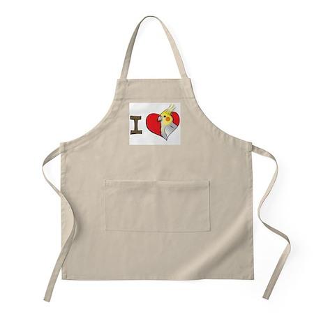 I heart cockatiels BBQ Apron