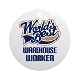 Warehouse worker Round Ornaments