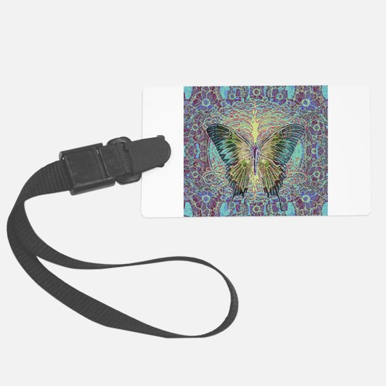 Butterfly and Tree of Life Luggage Tag