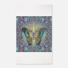 Butterfly and Tree of Life 3'x5' Area Rug
