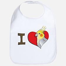 I heart cockatiels Bib