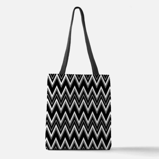 Gothic Chevron Pattern Polyester Tote Bag