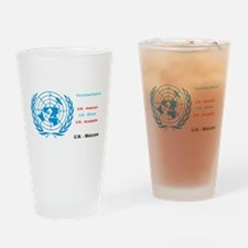 United Nations is immoral Drinking Glass