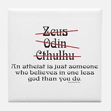 Atheist (1) Tile Coaster