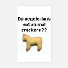 Animal Crackers Rectangle Stickers