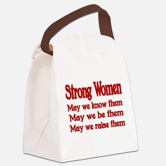 STRONG WOMEN Canvas Lunch Bag