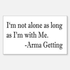 I'm Not Alone Rectangle Decal