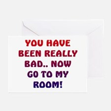 U HAVE BEEN REALLY BAD..2 Greeting Cards (Package