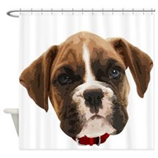 Boxer Face004 Shower Curtain
