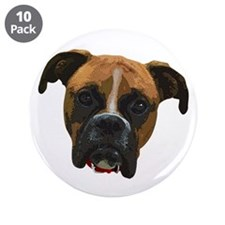 "Boxer face005 3.5"" Button (10 pack)"