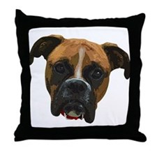 Boxer face005 Throw Pillow
