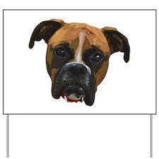Boxer face005 Yard Sign