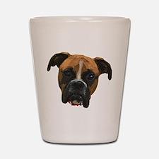 Boxer face005 Shot Glass