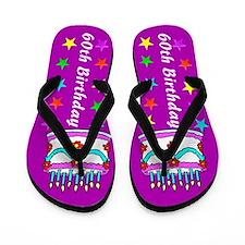 GLITZY 60TH Flip Flops