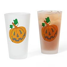 Halloween Carved Pumpkin Drinking Glass