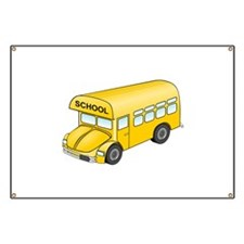 Cartoon School Bus Banner