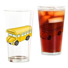 Cartoon School Bus Drinking Glass